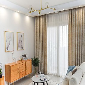 preiswerte Vorhänge & Gardinen-Europäisch Privatsphäre zwei Panele Vorhang Schlafzimmer   Curtains / Jacquard