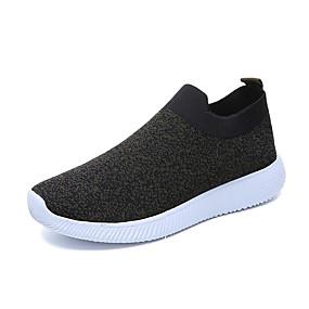 voordelige Damessneakers-Dames Sneakers Lage hak Ronde Teen Elastische stof / Tissage Volant Herfst / Lente zomer Groen / Rood / Grijs