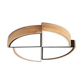 cheap Dimmable Ceiling Lights-1-Light 40 cm Flush Mount Lights Wood Bamboo Wood Bamboo Novelty Wood LED Modern 110-120V 220-240V