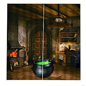 preiswerte Vorhänge und Gardinen-luxus uv digtal druck halloween sie vorhang verdickung blackout vorhang für schlafzimmer / wohnzimmer / bar benutzerdefinierte vorhang