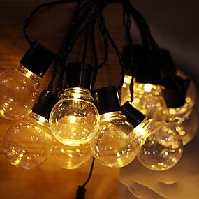 povoljno Svjetlosne trake i žice-5m Žice sa svjetlima 30 LED diode 1set Toplo bijelo Sunce Ukrasno Napelemes
