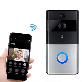 cheap Video Door Phone Systems-HH-D05 720P Smart Home Security Video Surveillance Wireless Wifi Remote Voice Intercom Telephone Video Smart Day / Night Vision 166° Wide-angle Live View Doorbell