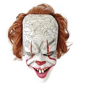 preiswerte Modische Kleidung-Maske Halloween-Maske Inspiriert von Clown Pennywise Gruseliger Film Weiß Halloween Karneval Erwachsene Herrn Damen