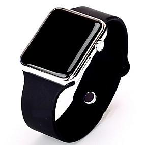 preiswerte Herrenuhren-Herrn Uhr Sportuhr Digitaluhr digital Silikon Schwarz / Weiß Armbanduhren für den Alltag digital Minimalistisch Gold / Weiß Schwarz / Rotgold / Edelstahl
