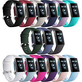 cheap Smartwatch Bands-Watch Band for Fitbit Charge 3 Fitbit Modern Buckle Silicone Wrist Strap