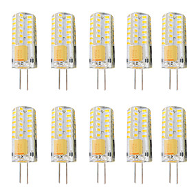 cheap LED Bi-pin Lights-10pcs 3 W LED Bi-pin Lights 300 lm G4 T 48 LED Beads SMD 3014 Dimmable Warm White White 12-24 V