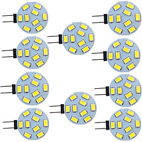 cheap LED Bi-pin Lights-10pcs 2 W LED Bi-pin Lights 280 lm G4 9 LED Beads SMD 5730 9-30 V