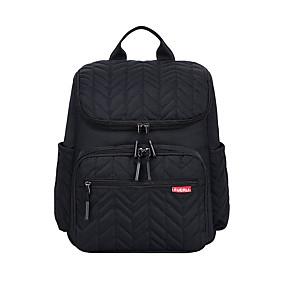 ราคาถูก Bags-Large Capacity ไนลอน ลายปัก กระเป๋าเป้สะพายหลัง การเดินทาง สีดำ / สีแดงชมพู / สีน้ำเงิน