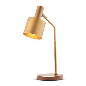 preiswerte Schreibtischlampen-Moderne / Moderne zeitgenössische Schreibtischlampe Für Studierzimmer / Büro / Shops / Cafés Metall 110-120V / 220-240V Gold