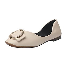 voordelige Damesinstappers & loafers-Dames Loafers & Slip-Ons Blok hiel Ronde Teen PU Zomer Zwart / Groen / Beige
