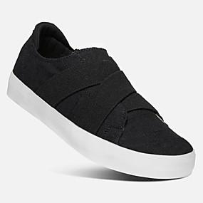 voordelige Damesschoenen met platte hak-Unisex Platte schoenen Creepers Ronde Teen Canvas Zomer Zwart / Lichtblauw / Beige