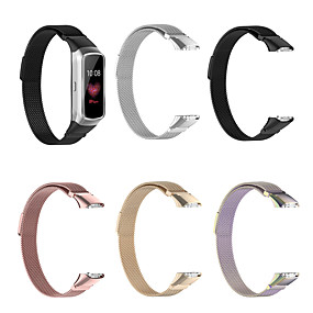 cheap Smartwatch Bands-Magnetic Stainless Steel Replacement Watch Band Strap for Samsung Galaxy fit SM-R370 Bracelet