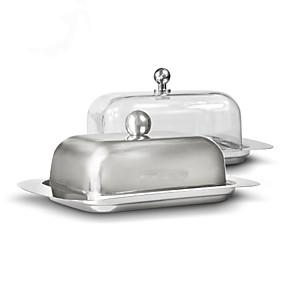 povoljno Posuđe za posluživanje-spremnik za posudu od nehrđajućeg čelika spremnik za sir poslužitelj spremnik za posluživanje s poklopcem kuhinjska posuđa