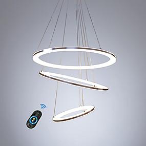 preiswerte Top Seller-LED-Acryl-Kronleuchter / moderne intelligente LED-Beleuchtung für Wohnzimmer Schlafzimmer Kaffee-Bar warmweiß / weiß / dimmbar mit Fernbedienung / WLAN Smart Works mit Google Home und Amazon alexa