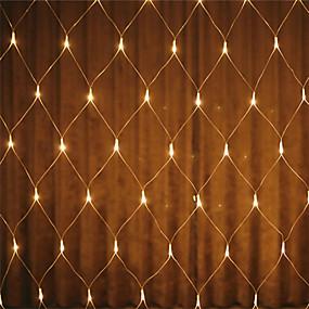 cheap Light Strips & Strings-1pc Led Net Lights 220V Wedding Decoration Christmas Fairy String Light Outdoor Holiday Festival Multi Outdoor Garden Lamp