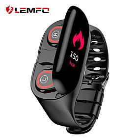 preiswerte Elektronik-lemfo m1 smart armband mit tws true wireless earbuds bt fitness tracker unterstützung benachrichtigen & herzfrequenz bunten lcd monitor wasserdichte smartwatch