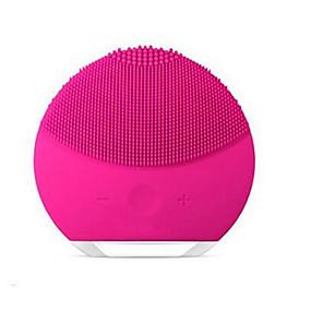 levne Skin Care-elektrický kartáč na čištění obličeje mini 2 nečistoty na praní pórů nečistoty čistí silikonové kartáčky na obličej proti vráskám