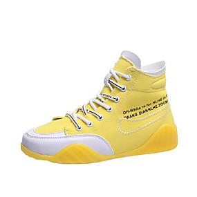 levne Dámské Oxfordky-Dámské Oxfordské Rovná podrážka S uzavřeným palcem PU Jaro & podzim Černá / Bílá / Žlutá