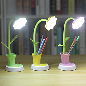 cheap Desk Lamps-Desk Lamp / Reading Light Eye Protection / Ambient Lamps Simple / Modern Contemporary USB Powered For Bedroom / Office <5V Yellow / Blushing Pink / Green