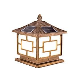 preiswerte Bahn Lichter-QIHengZhaoMing 1pc 20 W Leuchte für Rasenplatz Wasserfest / Solar Warmes Weiß 3.2 V Hof 20 LED-Perlen