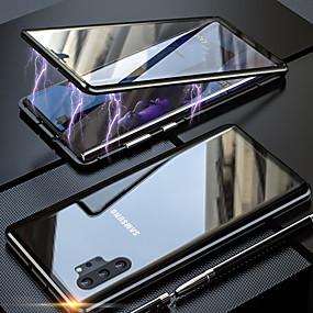 povoljno Maske za mobitele-magneto magnetsko adsorpcijsko metalno stakleno kućište za samsung galaxy note 10 pro note 10 navlake za stražnje poklopce za samsung galaxy note 9 note 8