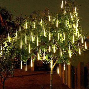 preiswerte Beliebteste Beleuchtung 2019-4 Pack 50cm x 10 20inch Dusche Regen Lichter 540 LED fallen Meteor Regen Lichter für Urlaubsparty Halloween Weihnachtsbaum Dekoration wasserdicht
