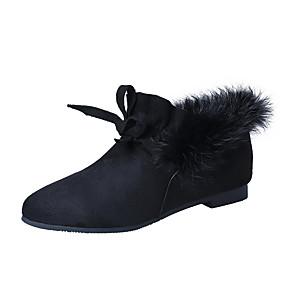 voordelige Damesschoenen met platte hak-Dames Platte schoenen Lage hak Gepuntte Teen PU Informeel Wandelen Lente / Herfst winter Zwart / Leger Groen / Bruin