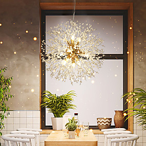 cheap Chandeliers-8-Light Lantern / Mini Pendant Light Ambient Light Electroplated Metal Crystal, Creative 110-120V / 220-240V Warm White / Cold White