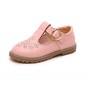 preiswerte Kids' Oxfords-Mädchen Schuhe für das Blumenmädchen Mikrofaser Outdoor Kleinkind (9m-4ys) / Kleine Kinder (4-7 Jahre) Schnalle Schwarz / Beige / Rosa Sommer / Gummi