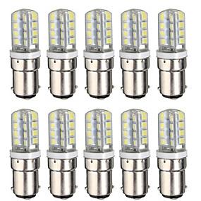 cheap LED Corn Lights-10pcs 3 W LED Corn Lights 300 lm BA15D T 32 LED Beads SMD 2835 Warm White White 220-240 V 110-120 V