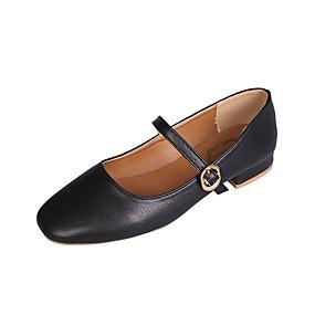 voordelige Damesinstappers & loafers-Dames Loafers & Slip-Ons Blok hiel Vierkante Teen PU Zomer Zwart / Beige / Khaki