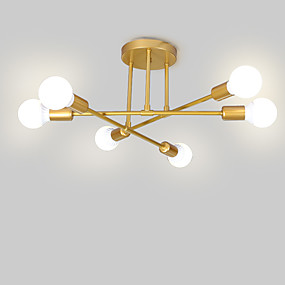 cheap Chandeliers-6-Light Sputnik / Linear / Geometrical Flush Mount Lights Ambient Light Painted Finishes Metal Matte, Creative, New Design 110-120V / 220-240V