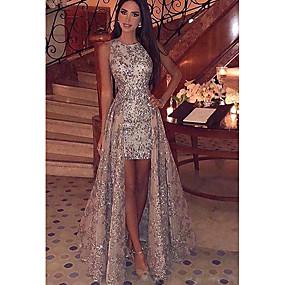 cheap Lightning sale-Women's Elegant & Luxurious Maxi Bodycon Dress - Lace Printing Sequins Gold S M L XL / Slim