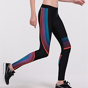 cheap Running & Jogging-JACK CORDEE Women's Running Tights Leggings Athleisure Leggings Side-Stripe Contour Fitness Gym Workout Running Jogging Tummy Control Butt Lift Breathable Sport White Yellow Blue Green Gray / Skinny