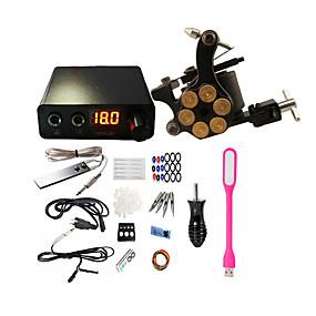 preiswerte professionelle Tattoo-Kits-BaseKey Professionelles Tattoo Kit Tätowiermaschine - 1 pcs Tattoo-Maschinen, Professionell Aleación 20 W 1 x-Legierung Tattoo Maschine für Futter und Schattierung
