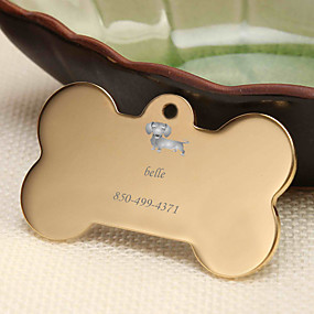 cheap Engraved Pet Tags-Personalized Customized Dachshund Dog Tags Classic Gift Daily 1pcs Gold Silver Rose Gold