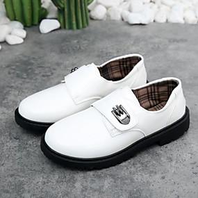 preiswerte Kids' Oxfords-Jungen Komfort Leder Outdoor Kleine Kinder (4-7 Jahre) Weiß / Schwarz Sommer