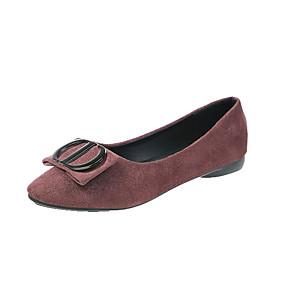 voordelige Damesschoenen met platte hak-Dames Platte schoenen Platte hak Gepuntte Teen Strik PU Klassiek / minimalisme Lente zomer / Herfst winter Zwart / Koffie