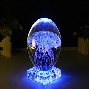 preiswerte LED-Smart Licht-BRELONG® 1pc Dekorations Beleuchtung / LED-Nachtlicht / 3D Nachtlicht Blau / Rosa USB Für die Kinder / Dekoration / Nacht 5 V