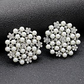 preiswerte Schuhe Zubehör-2pcs Strass Steine Dekorative Akzente Damen Ganzjährig Hochzeit Silber
