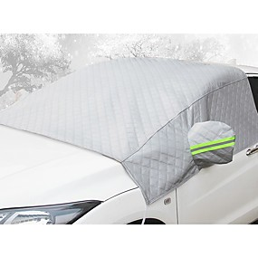 cheap Automotive Exterior Accessories-Car front windshield antifreeze cover anti-frost and snow thickening half body car clothing half cover