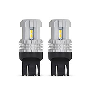 저렴한 Car Signal Lights-otolampara 2 개 최고의 품질 슈퍼 밝은 가벼움 w21 / 5w p21 / 5w 항공 알루미늄 방열 고품질 자동차 회전 신호등