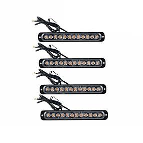 preiswerte Warnlichter-Ultra-dünnes Seitenblitzlicht 12led Signalwarnlicht 12v-24v des LKW-4pcs Seitenlichts