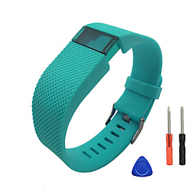 cheap Smartwatch Bands-Watch Band for Fitbit Charge HR Fitbit Sport Band / DIY Tools Silicone Wrist Strap