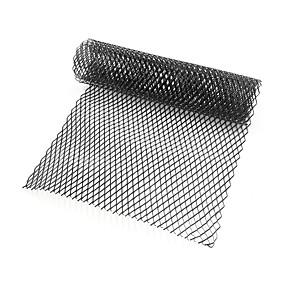 levne Dekorace přední mřížky automobilu-auto stříbrná / černá hliníková slitina přední nárazník kosočtverec mřížkový plech (10x20mm)