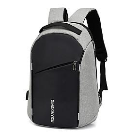 ราคาถูก Bags-Large Capacity เส้นใยสังเคราะห์ ซิป กระเป๋าเป้สะพายหลัง สีทึบ ทุกวัน สีดำ / สีเทา / สำหรับผู้ชาย / ฤดูใบไม้ร่วง & ฤดูหนาว