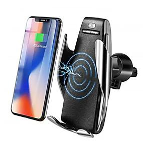 billige Bil-lader-10w trådløs infrarød sensor automatisk klemme rask bil lader feste holder stativ trådløs lader qi raskt bil klemme montering lufteventil for samsung / iphone x xs / huawei p30 mate20 / xiaomi osv.