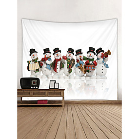 cheap Christmas Wall Decor-Christmas / Holiday Wall Decor Polyester Contemporary / New Year's Wall Art, Wall Tapestries Decoration
