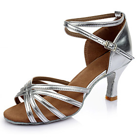 preiswerte Tanzschuhe-Damen Tanzschuhe Lackleder Schuhe für den lateinamerikanischen Tanz Absätze Schlanke High Heel Maßfertigung Silber / Leistung
