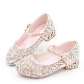 preiswerte Schuhe für das Blumenmädchen-Mädchen Schuhe für das Blumenmädchen Mikrofaser High Heels Kleine Kinder (4-7 Jahre) Glitter Silber / Rosa Herbst